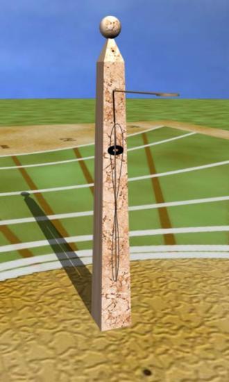 This is a virtual sundial of a digital equatorial sundial. The time is ...: www.mysundial.ca/sdu/virtual_sundials_ki.html