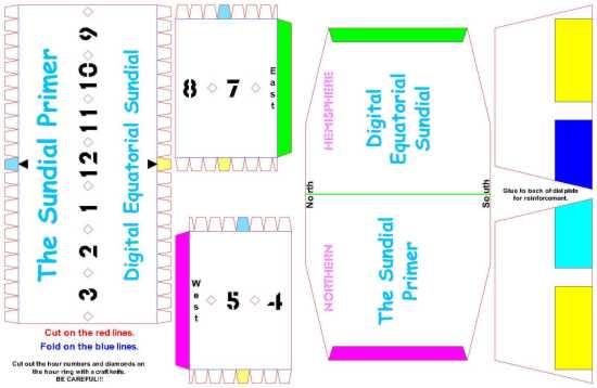The Sundial Primer - Sunny Day U - Digital Equatorial Sundial Kit