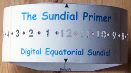 The sundial primer sunny day u digital equatorial sundial kit figure 2 digital equatorial sundial paper model pronofoot35fo Choice Image